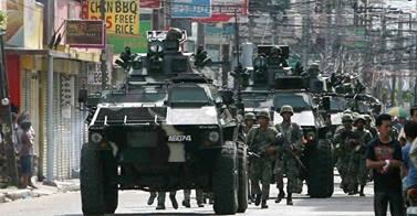 Philippine Troops in Zamboanga