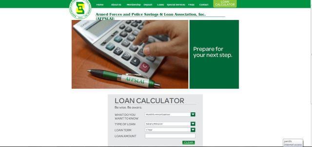 AFPLSAI Loan Calculator